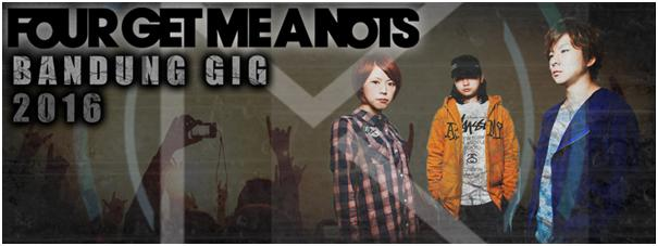 """REVORIA In Conjunction With DGS Booking Proudly Present """"Four Get Me A Nots Bandung Gig 2016"""""""