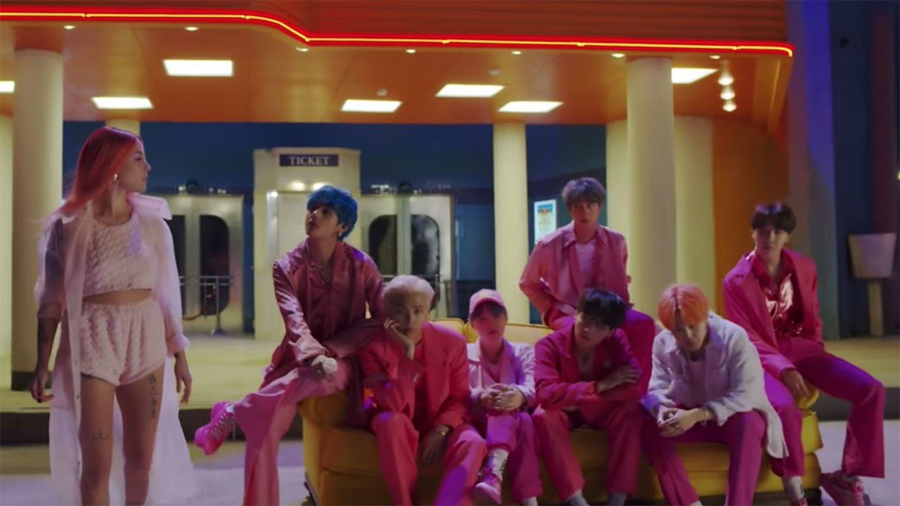Simak Teaser Video Kolaborasi BTS & Halsey, 'Boy With Luv'